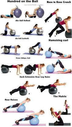 19 Ideas Fitness Abs Workout Stability Ball For 2019 Fitness Workouts, Yoga Fitness, Health Fitness, Fitness Ball Exercises, Exercise Ball Workouts, Exercise Chart, Tummy Exercises, Swimming Workouts, Swimming Tips