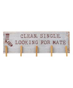 DIY inspiration-'Looking for Mate' Sock Hanger Sign