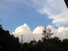 It's so fluffy I'm gonna die! / view from my house / July 28th 2014