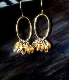 Citrine and Gold Vermeil Dangle by DonnaWagnerJewelry on Etsy