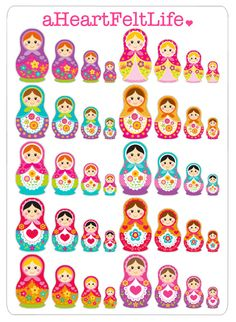 Matryoshka Nesting Dolls Stickers for your by aHeartFeltLife