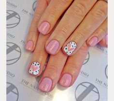 love this heart nail design surrounded by little polka dots!  ~  we ❤ this! moncheribridals.com