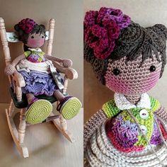 katxirula Crochet Doll Pattern, Easy Crochet Patterns, Amigurumi Patterns, Amigurumi Doll, Crochet Dolls, Doll Patterns, Crochet Hats, Doll Tutorial, Felt Toys