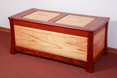 Camphor laurel and red cedar blanket chest by Australian Woodwork.