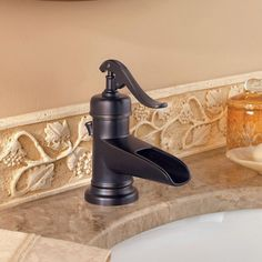 Pfister Ashfield 4 in. Centerset Single-Handle Bathroom Faucet in Tuscan Bronze-LF-M42-YPYY - The Home Depot