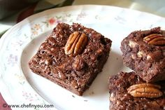Easy Chocolate chip and Pecan brownies (Squares) Recipe