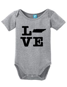 Tennessee Love Onesie Funny Bodysuit Baby Romper Clothe your young ones while having fun! These adorable onesies that are sure to bring a :) to everyone. Super soft cotton body suits with snap closure
