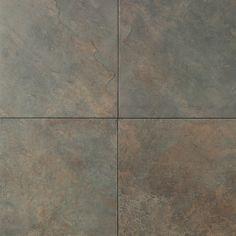 "Porcelain Tile - Continental Slate Series - Brazilian Green / 18""x18"""