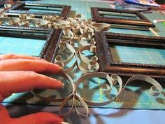 Faux Metal Filigree Frame Tutorial | Suzy's Artsy Craftsy Sitcom... takes a lot of patience but such a great result!