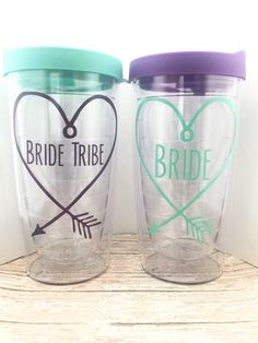 Bride Tribe Tumblers  Bachelorette Party by MelissasHomeDecor
