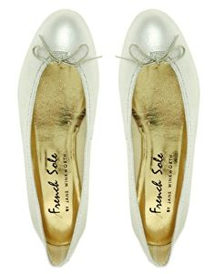 811187ffe4fb6 French Sole India Silver Ballet Flats Silver Ballet Pumps, Ballet Flats,  Online Shopping Clothes