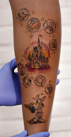 Robson Carvalho Turns His Beautiful Drawings Into Magical Tattoos - You are on . - Robson Carvalho Turns His Beautiful Drawings Into Magical Tattoos – You are at the right place fo - Disney Tattoos, Disney Sleeve Tattoos, Mickey Tattoo, Cute Small Tattoos, Cute Tattoos, Finger Tattoos, Tatoos, Manga Disney, Theme Tattoo