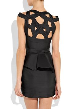 Rachel Gilbert Kamilla cutout silk-taffeta dress
