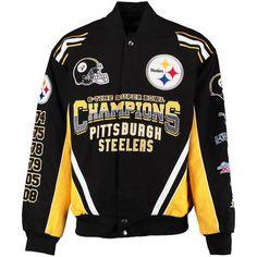 Men's Pittsburgh Steelers G-III Sports by Carl Banks Black Commemorative Twill Jacket