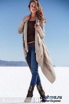 Кардиган-прямоугольник *Laura* спицами - изумительная модель для пышек. Обсуждение на LiveInternet - Российский Сервис Онлайн-Дневников