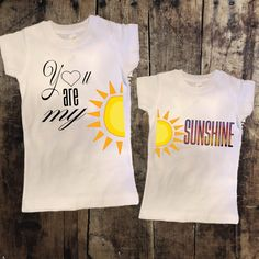 You are my Sunshine Mommy + Me Tshirt Set