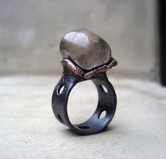 Smokey Quartz Ring Grounding Protective by SilviasCreations, $79.00