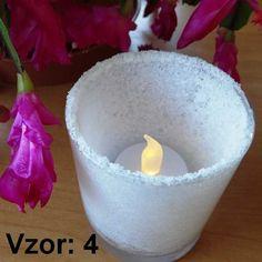 Svietnik sklenený mix vzorov - Sviečka - S čajovou sviečkou LED (plus 1€), Vzor - Vzor 4