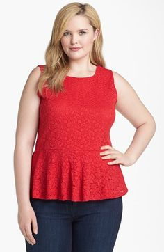 Vince Camuto Lace Peplum Top (Plus Size) | Nordstrom I really love peplums if no one has caught onto that by now. LOL