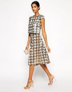 Enlarge Little Mistress Jacquard Midi Skirt