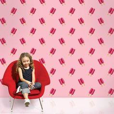 Twin Pops Pink/Pink Removable Wallpaper Half Kit by WallCandy Arts Kids Room Wallpaper, Vinyl Wallpaper, Peel And Stick Wallpaper, Pattern Wallpaper, Wallpaper Ideas, Pink Removable Wallpaper, Colorful Wallpaper, Wall Candy, Candy Art