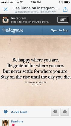 Be happy where you are