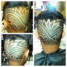 Some free style poly hair designs from today I love doing tribal always something new to etch #hairdesign #tribal #poly  To book your hair appointment contact me at (808)385-6447