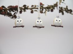 Tiny Barn Owl Necklace by charmingcreatures on Etsy https://www.etsy.com/listing/155012010/tiny-barn-owl-necklace
