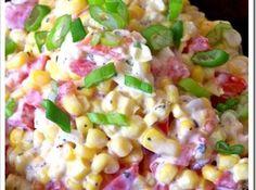 Yum... Id Pinch That! | Creamy Ranch Corn Salad   http://www.justapinch.com/recipes/salad/other-salad/creamy-ranch-corn-salad.html