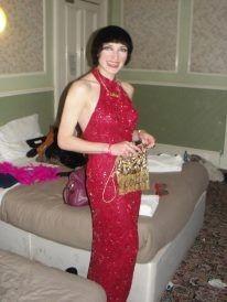 Vintage Red beaded dress