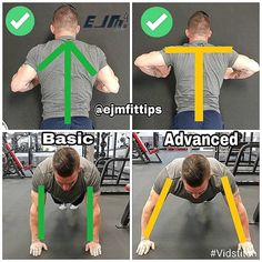 Did You Know That Both push up Variations Are Correct?️️️️️️️️️There are COUNTLESS pushup variations. THE PUSHUP IS one of the most basic but effective moves for strength and conditioning.This humble muscle-building exercise trains the muscles in your chest, shoulders, triceps, and abs. Add the slightest tweak and that burn can quickly shift from a killer chest pump to a brutal ab ripper. While there are countless variation