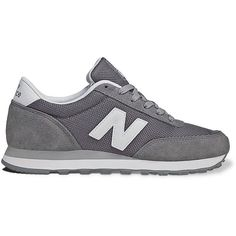 New Balance 501 Lifestyle Athletic Shoes - Women (56 AUD) ❤ liked on Polyvore featuring shoes, sneakers, trainers, new balance, gray shoes, new balance footwear, suede leather shoes, suede lace up shoes and grey shoes