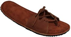 NATIVEARTH Womens Slip On Leather GoGo Sandal Rust Size 8 -- Click on the image for additional details.