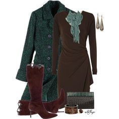 """""""Classy in Brown and Green"""""""