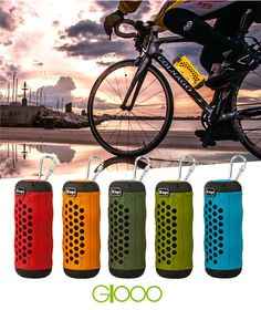 Kuge Outdoor Sports Bluetooth Speaker Portable Wireless Stereo  Subwoofer Loudspeaker for Bicycle With Mic TF Card SlotAUX in