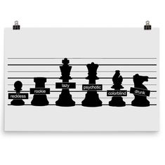 We have apprehended the usual suspects for the murder of the white king. Who could be the perpetrator? White King, Chess, Home And Living, Ceiling Lights, History, Poster, Gingham, Historia, Outdoor Ceiling Lights