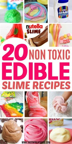 The ultimate collection of BEST edible slime recipes for kids. Made without borax, glue or other dangerous chemicals these best edible slime recipes are not only insanely fun BUT super safe for kiddos to play with. - Education and lifestyle Edible Slime, Slime Craft, Diy Slime, Foam Slime, Fun Crafts For Kids, Toddler Crafts, Cool Stuff For Kids, Fun Recipes For Kids, Make Slime For Kids