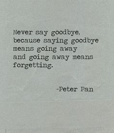 Too many good byes in my future. Long distance relationships are no fun!