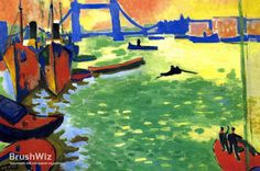 The Thames London by Andre Derain - Oil Painting Reproduction - BrushWiz.com