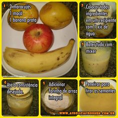 Meninas, uma amiga minha, e Eloir me mandou algumas receitas de papinhas em fotos, e achei super interessante, e queria compartilhar com... Baby Food Recipes, Vegan Recipes, Baby Education, Kids Meals, Pear, Remedies, Food And Drink, Banana, Fruit