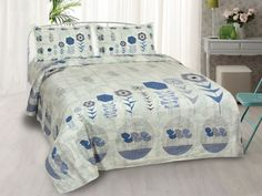 Flower Basket Blue King Size Bedsheet Bed Sheet Sizes, King Size Bed Sheets, Double Bed Sheets, Double Beds, Sheet Sets, Close To Home, Cover Size, Flower Basket, Pillow Covers