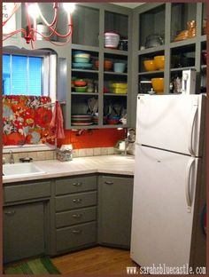 great grey kitchen - lots of color in this one, too cute !