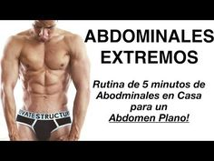 RUTINA INTENSA de ABDOMINALES en Casa para obtener un Six Pack 5 MINUTOS - YouTube