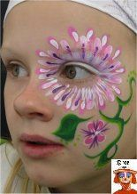 DIY Flower Face Paint #DIY #FacePainting #Birthdays #Birthday #Parties #Party#Flowers