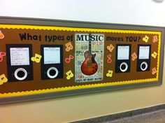 Using re usable dry erase adhesive boards (wal mart - $3.49 for 3), Ive made personalized iPods for all three grades that I teach and one for me.  After giving my initial music assessments and survey, I will list each classes favorite genres.  The iPods will be used throughout the year in my classroom to post genres and songs we are studying.  I found the center poster last week at Five Below :)