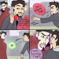 Tony don't throw apples at people you don't want to marry