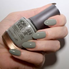 Muted Nail Trend with Morgan Taylor Polishes // Talonted Lex Muted Nail Trend . - Muted Nail Trend with Morgan Taylor Polishes // Talonted Lex Muted Nail Trend – Morgan Taylor - Morgan Taylor, Green Nail Polish, Green Nails, Nail Polish Colors, Nail Polishes, Nail Nail, Nail Colour, Polish Nails, Cute Nails