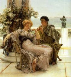 Lawrence Alma-Tadema Paintings | Descrizione Lawrence Alma-Tadema Courtship - The Proposal.jpg