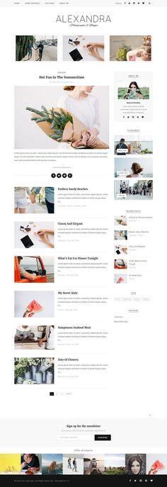Alexandra - Wordpress blog theme by MaiLoveParis on @creativemarket