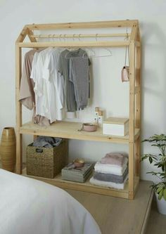 Ted's Woodworking Plans - Love this DIY wardrobe idea from BQ - Get A Lifetime Of Project Ideas & Inspiration! Step By Step Woodworking Plans Diy Clothes Storage, Closet Storage, Clothes Racks, Laundry Storage, Hanging Clothes, Wardrobe Storage, Clothing Storage, Bedroom Wardrobe, Wardrobe Closet